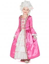 Marie Antoinette-Mädchenkostüm Barock-Verkleidung pink-weiss