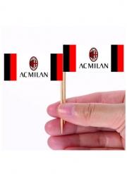 AC Milan™-Party-Picker für Fingerfood Tischzubehör 24 Stück 6,5 x 5 cm rot-schwarz-weiss