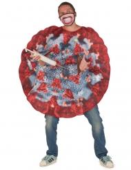 Virus-Kostüm für Erwachsene rot-grau