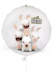 Raving Rabbids™-Luftballon Kindergeburtstag-Deko weiss-rosa 40 cm