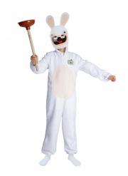 Raving Rabbids™-Kostüm für Kinder mit Maske weiss