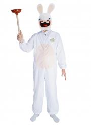 Rabbids™-Lizenzkostüm mit Maske Fasching Erwachsenen-Kostüm weiss
