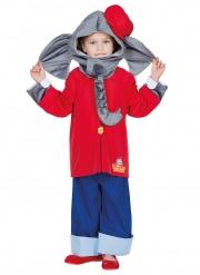 Benjamin Blümchen™-Kinderkostüm für Fasching Kindheitshelden blau-rot-grau