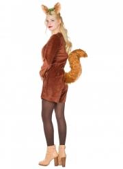 Eichhörnchen-Damenkostüm Tier-Verkleidung für Fasching braun