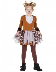 Bezauberndes Rentierkostüm für Mädchen Tier-Verkleidung braun-weiss