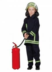 Tapferer Feuerwehrmann Kinderkostüm für Jungen Fasching blau-gelb