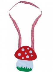 Fliegenpilz-Umhängetasche Kostüm-Accessoire rot-weiss