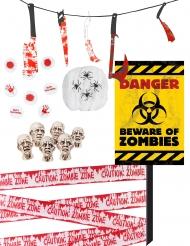 Zombie-Deko-Set für Halloween 11-teilig