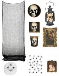 Halloween Geisterhaus Deko-Set für Halloween bunt