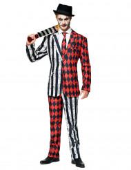 Mr. Twisted Circus-Herrenkostüm Opposuits™ schwarz-weiss-rot