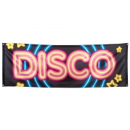 Disco 70er-Jahre Banner Raumdeko bunt 220 x 74 cm