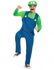 Luigi™-Herrenkostüm Videospiel-Figur Fasching blau-grün
