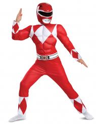 Power Rangers™-Kostüm für Kinder Serienfigur rot-weiss