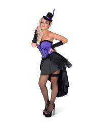 Sexy Burlesque Damenkostüm verführerisches Karneval-Kostüm schwarz-lila