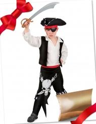 Abenteuerliche Piraten-Kostüm-Box Geschenke-Set 3-teilig bunt