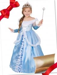 Eisprinzessin-Geschenk-Box für Mädchen Kostüm-Set für Fasching blau-weiss