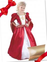 Mittelalterliches-Kostüm-Set Geschenke-Box für Mädchen rot-weiss-gold