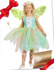 Feen-Kostüm-Set Geschenk-Idee für Kinder Fasching grün-bunt