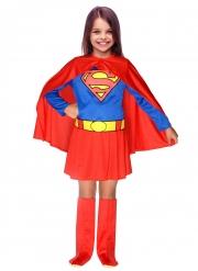 Lizenziertes Supergirl™-Kostüm für Mädchen Lizenz-Verkleidung rot-blau-gelb