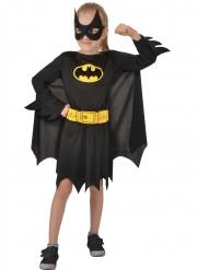 Lizenziertes Batgirl™-Kostüm für Kinder Mädchen-Verkleidung schwarz-gelb