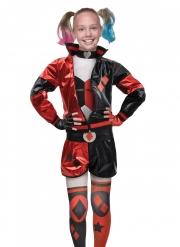 Harley Quinn™-Mädchenkostüm Antiheldin rot-schwarz-weiss