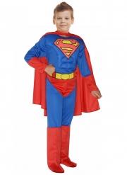 Muskulöses Superman™ Kostüm für Kinder blau-rot