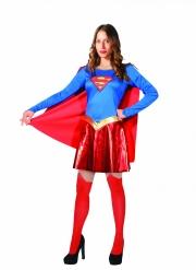 Supergirl™-Damenkostüm für Fasching Superheldin rot-blau-gelb