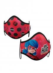 Gesichtsmaske Ladybug™ für Kinder Mund-Nasen-Maske rot-schwarz