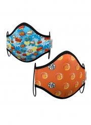 Dragon Ball™-Gesichtsmasken für Kinder Alltagsmasken 2 Stück bunt