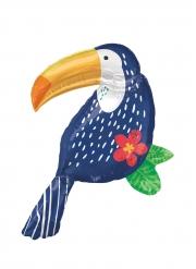 Tropischer Tukan-Ballon für eine Sommerparty bunt 93 cm