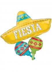 Sombrero-Luftballon mexikanische Raumdeko bunt 91 cm