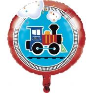 Luftballon mit Lokomotiven-Muster Raumdeko für Kindergeburtstage bunt 45 cm