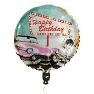 Rock´n´Roll Folienballon 50er-Jahre Deko Happy Birthday bunt 45 cm