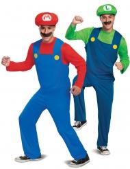 Mario™ und Luigi™-Paarkostüm für Erwachsene Videospielfiguren rot-blau-grün