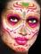 Temporäres Gesichtstattoo Dia de muertos für Damen-1