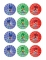 12 Zuckerdekorationen für Kekse PJ Masks™