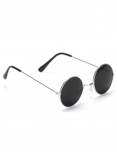 Hippiebrille rund für Erwachsene-2