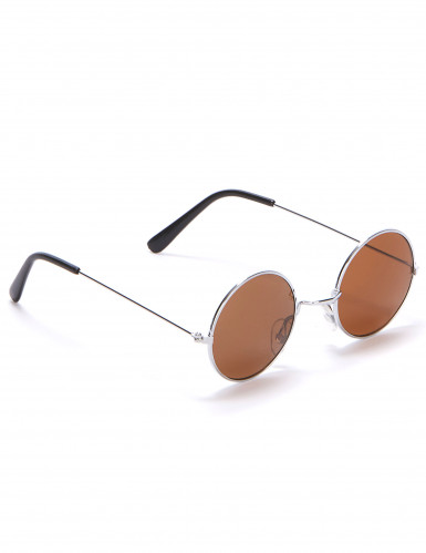Hippiebrille rund für Erwachsene-3