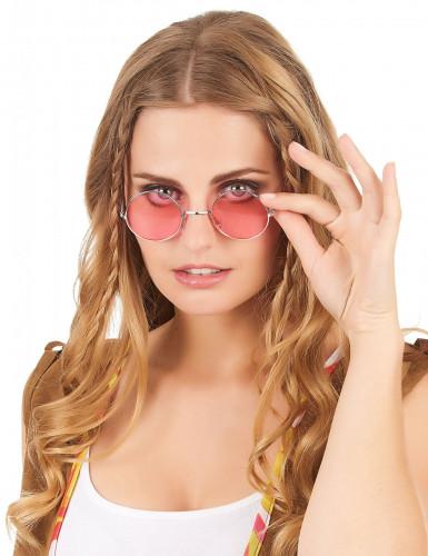 Hippiebrille rund für Erwachsene-5