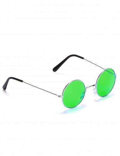Hippiebrille rund für Erwachsene-4