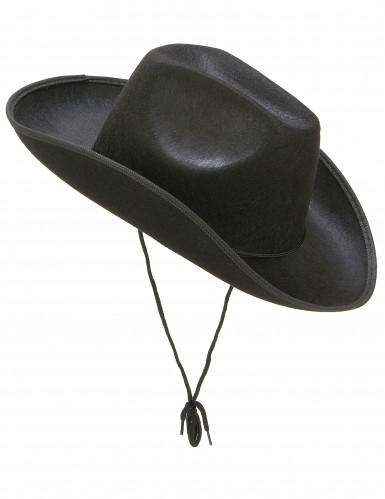 Cowboyhut für Erwachsene schwarz