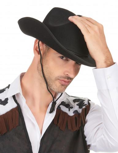 Cowboyhut für Erwachsene schwarz-2