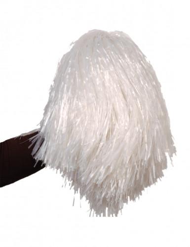 Pompon Fan weiß