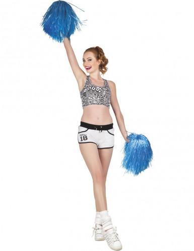 Pompon Fan blau-1