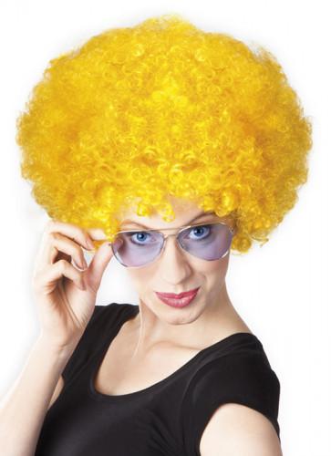 Afro-Perücke Disko gelb für Erwachsene-1