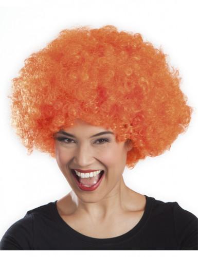 Afro-Perücke Disko orange für Erwachsene-1