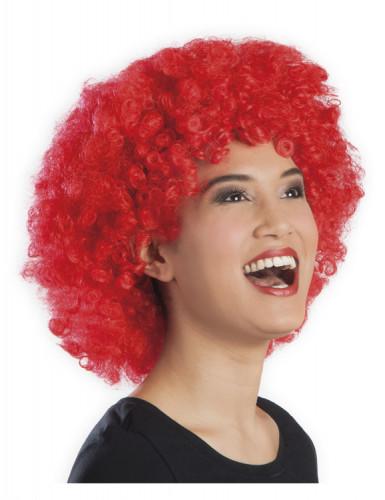 Afro-Perücke Disko rot für Erwachsene-1