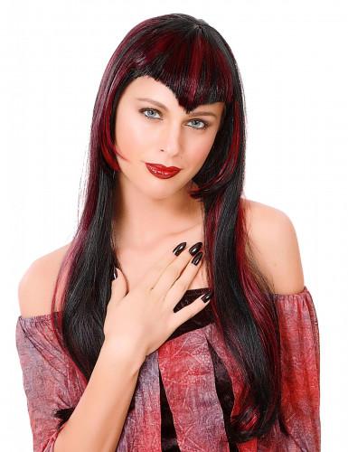 rote Vampir-Perücke für Damen