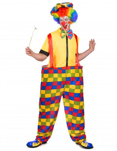 Clownskostüm für Herren Latzhose bunt