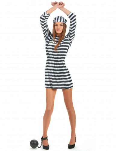 Sträflings-Kostüm für Damen